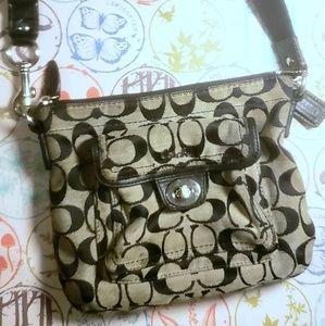 Handbags - Coach crossbody grey/black hand bag